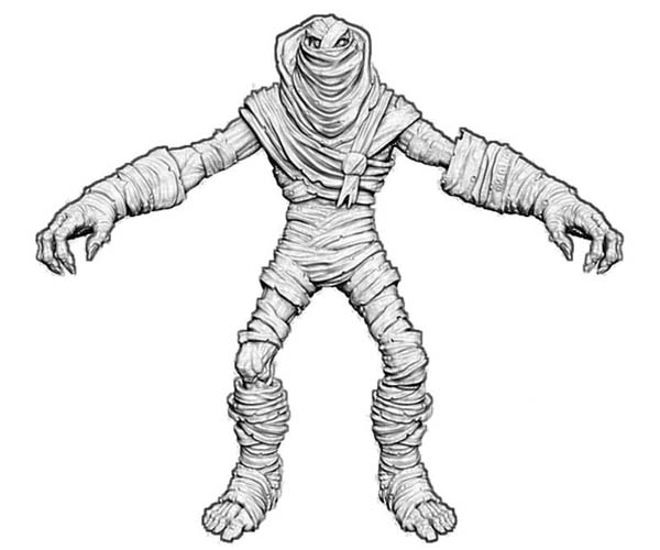3d Mummy Front View Free Coloring Page Download Amp Print