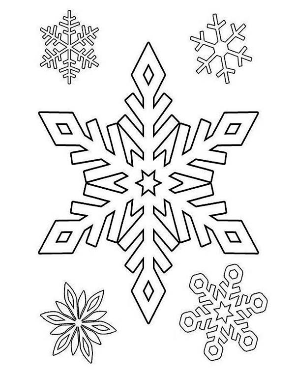 a beautiful winter snowflake pattern coloring page