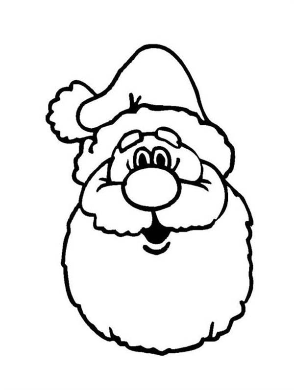 a classic ho ho ho laugh of santa claus coloring page - Santa Claus Coloring Pages