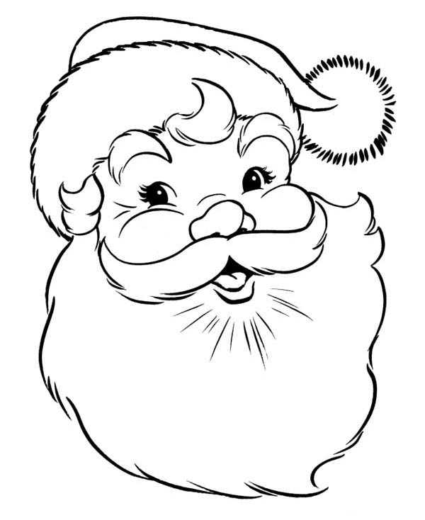A Happy Merry Christmas From Santa Coloring Page Download Merry Coloring Pages