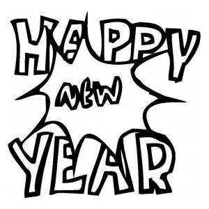 A Happy New Years Bang Coloring Page