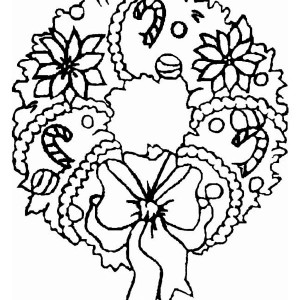 A Sweet Christmas Wreath Ornament Coloring Page