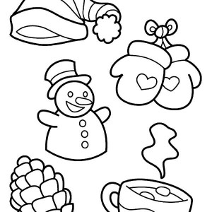 Pair Of Nice Winter Skate Boots Coloring Page Pair Of