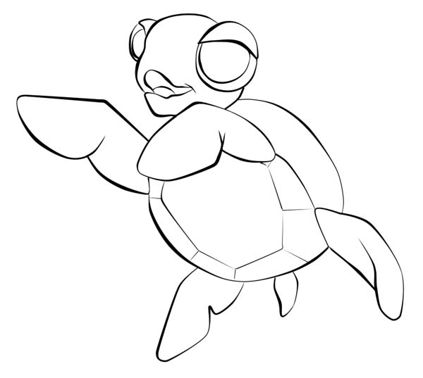 Baby Sea Turtle Sketch Line Art Free Coloring Page Baby