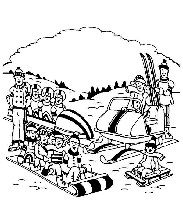 Complete Winter Sports and Activities Coloring Page - Download ...
