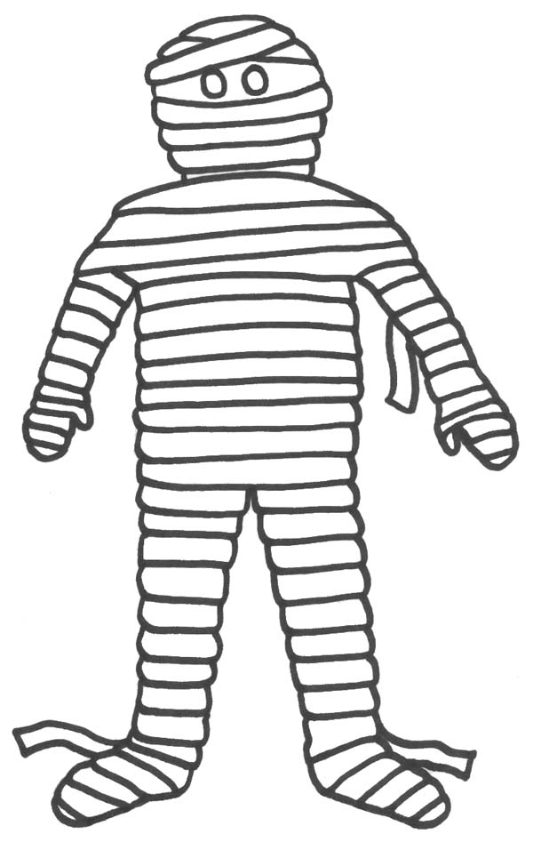 Do I Look Like A Mummy Funny Coloring Page