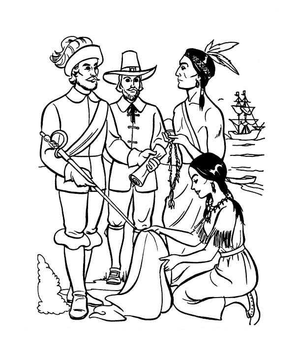 Plymouth colony cartoon images reverse search for Jamestown colony coloring pages
