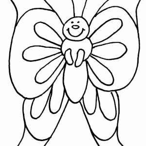 Fatty Butterfly in Cartoon Coloring Page