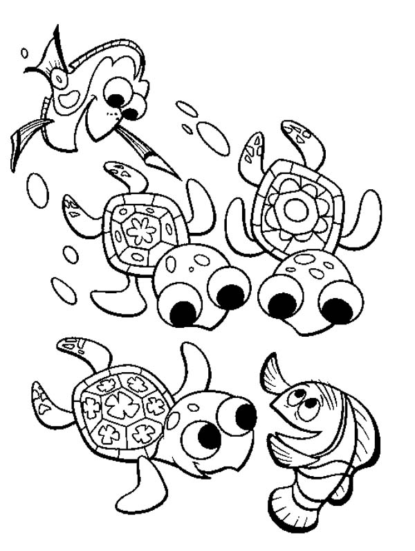 Fingding Nemo Sea Turtle Coloring Page - Download & Print Online ...