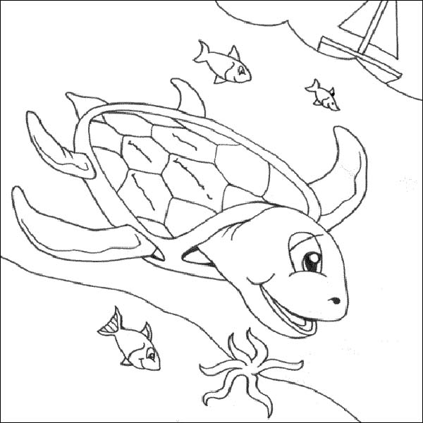 Free Sea Turtle Underwater Coloring Page Download Print Online Underwater Coloring Pages
