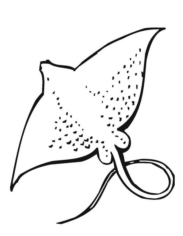 giant stingray free sea animals coloring page - Ocean Animals Coloring Pages