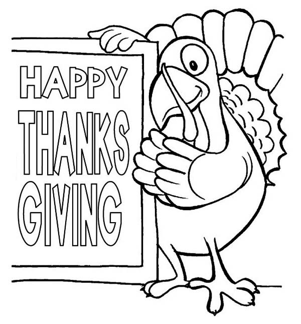 Happy Thanksgiving Day Happy Thanksgiving Coloring Pages