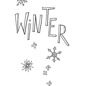 Happy Winter Everyone Coloring Page