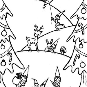 Happy Winter and Christmas Event Coloring Page