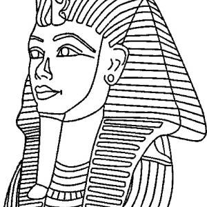 King Tut  Mask Mummy Free Coloring Page
