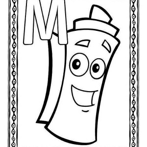 Bubble Letter M Coloring Pages Coloring Pages