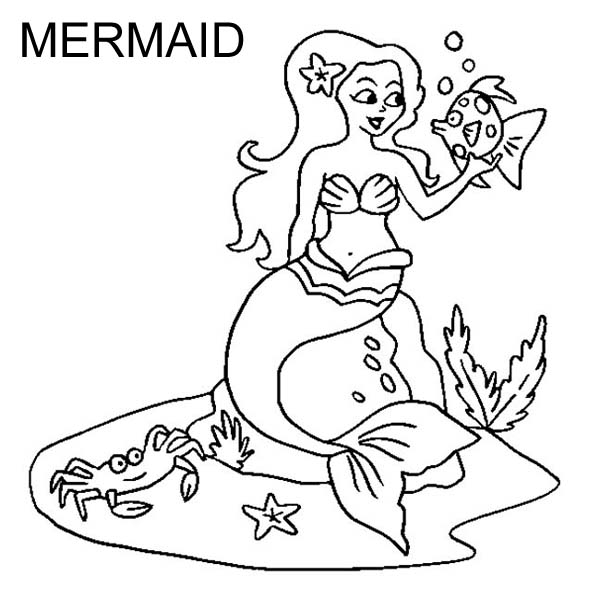 Letter M for Mermaid Coloring Page - Download & Print Online ...
