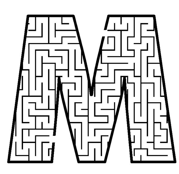 Letter M in Pattern Background Coloring Page - Download & Print ...