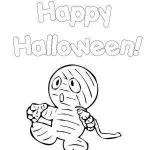 Little Cute baby Mummy Free Coloring Page
