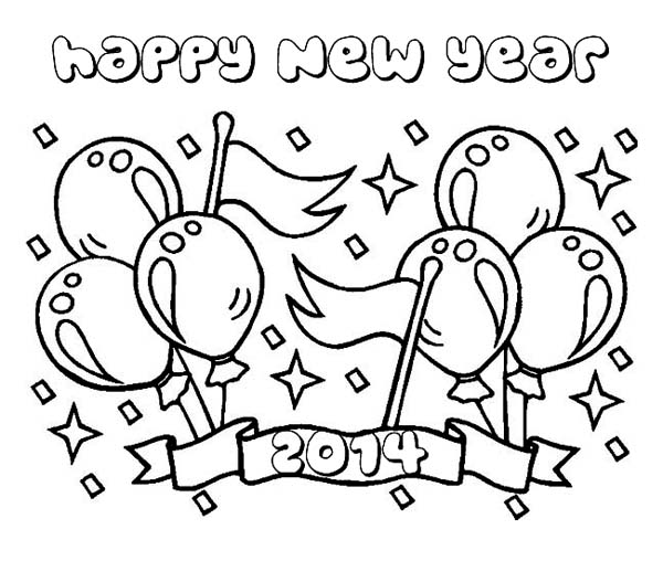 new years coloring pages 2014 lovely 2014 new years background coloring page download
