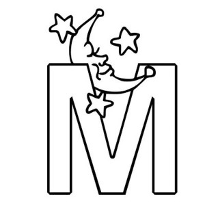 Rounded Letter M Coloring Page: Rounded Letter M Coloring Page ...