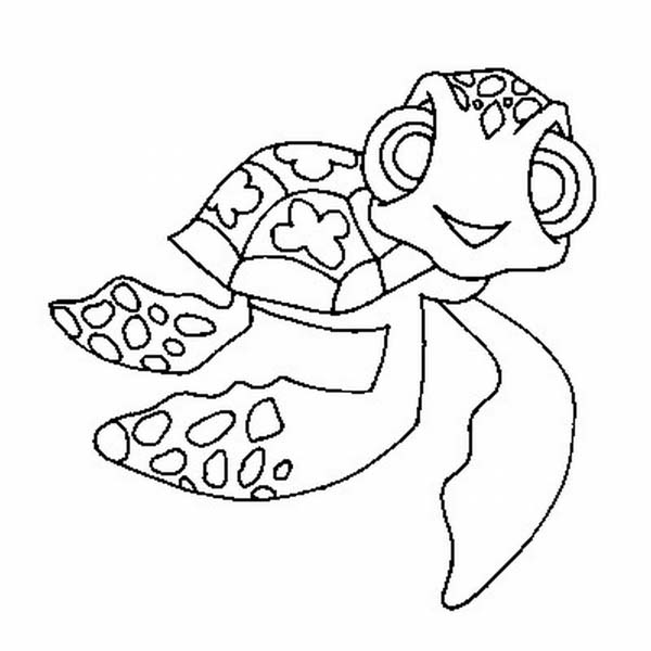 Mini Nemo Sea Turtle free Coloring Page Download Print Online