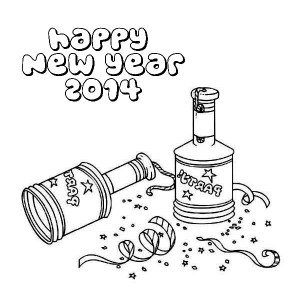New Years Firecrackers Coloring Page