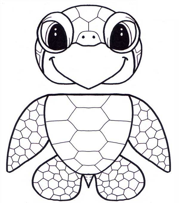 Puppet Honu Sea Turtle Free Coloring Sheet Download Print