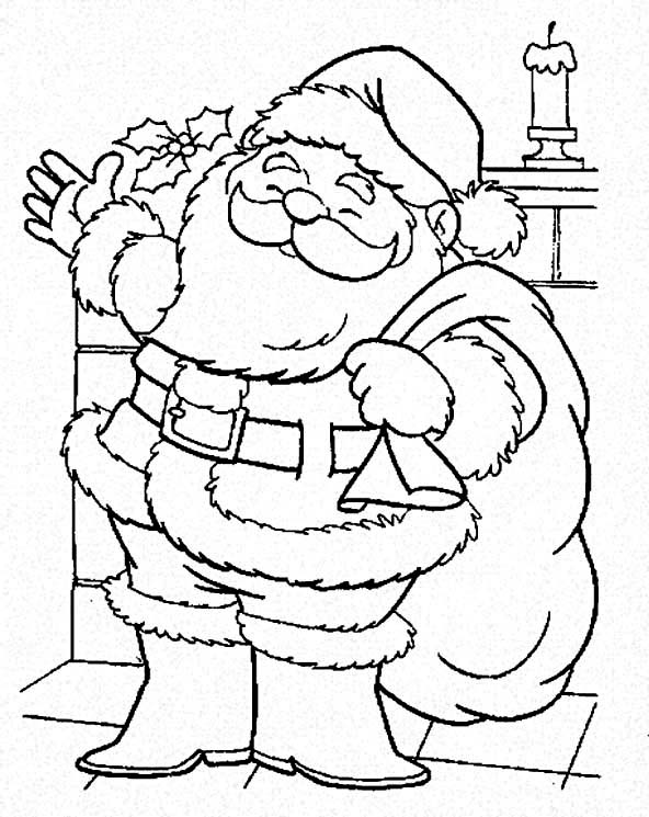 Santa is Coming to Town Coloring Page Download Print Online