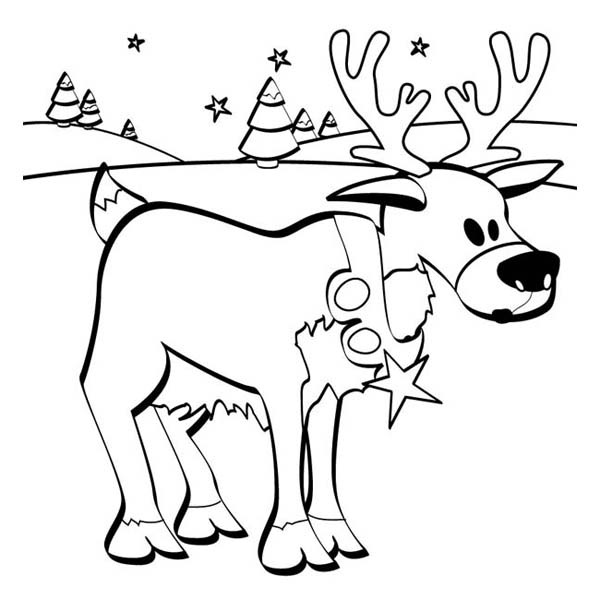 Frozen Reindeer Coloring Pages : Colouring page santas reindeer search results calendar