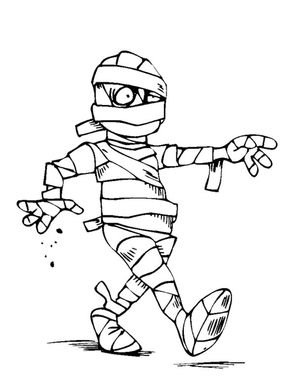 mummy sleepy mummy need to sleep coloring page - Ancient Egypt Mummy Coloring Pages