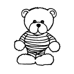 Teddy Bear Mummy Free  Coloring Page