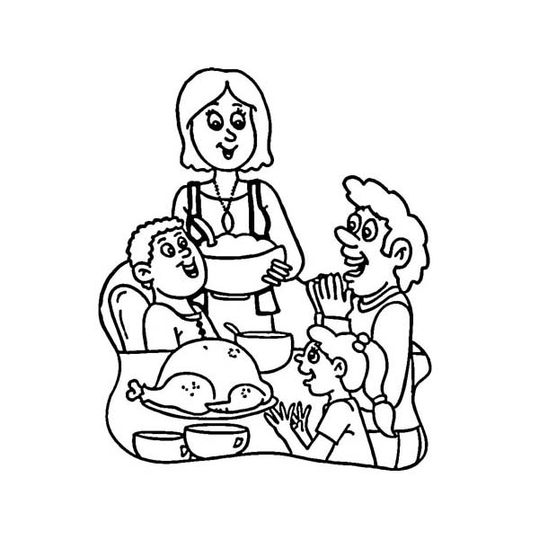 Thanksgiving Day Around The World Coloring Page