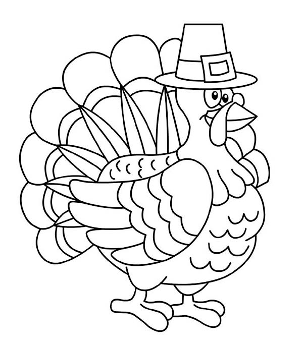 Thanksgiving day turkey trot chicago coloring page for Coloring pages for thanksgiving turkeys