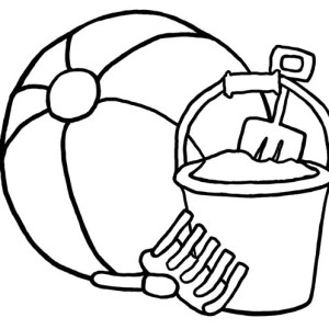 Beach Ball Coloring Pages Umbrella Page Related