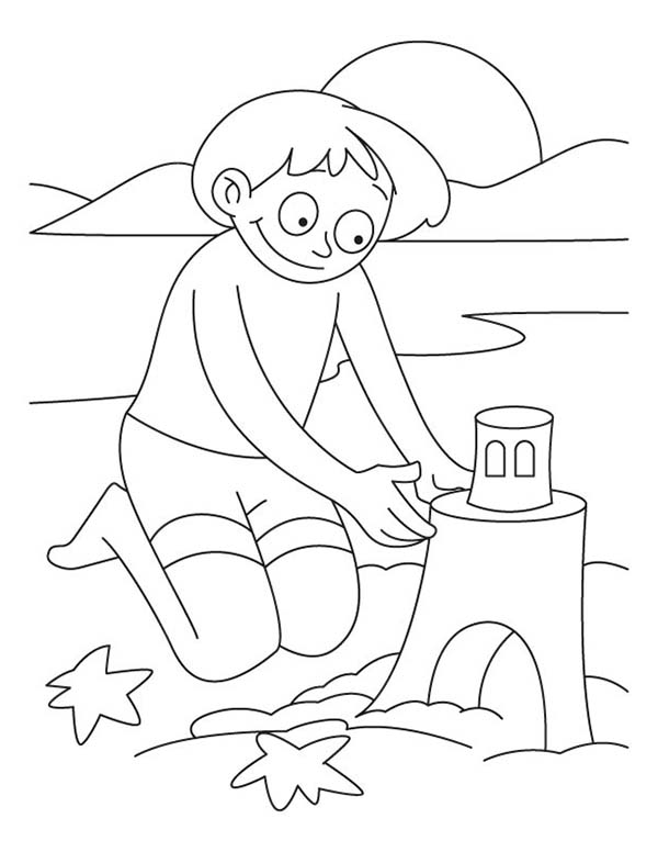 Free sandcastle coloring pages