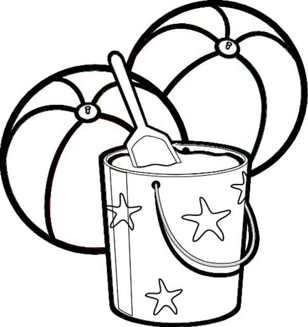 Bucket Filling Coloring Pages #5