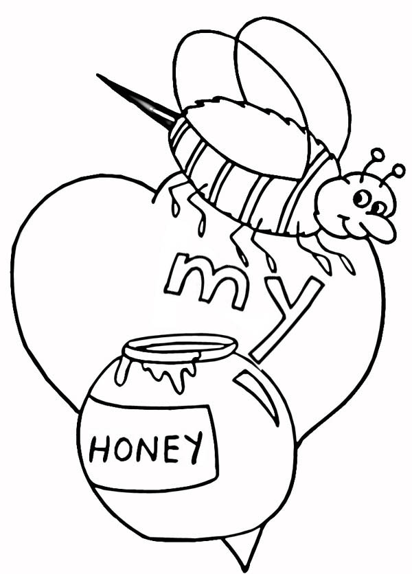 A Bumblebee with valentines Honey