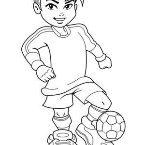 soccer a cute boy on complete soccer jersey coloring page a cute boy on