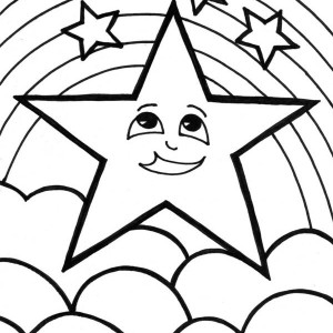 A Cute Start and the Rainbow Coloring Page