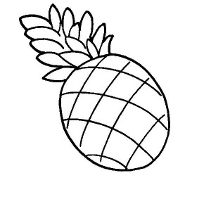 A Drawing of Pernambuco Pineapple Coloring Page