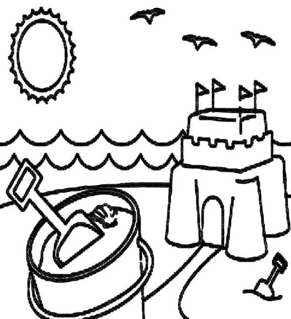 A happy summer beach vacation coloring page download & print Bible School Coloring Pages Great Summer Coloring Pages Fun Coloring Pages to Print