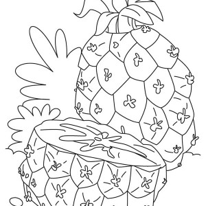 A Juicy Pineapple Spears Coloring Page
