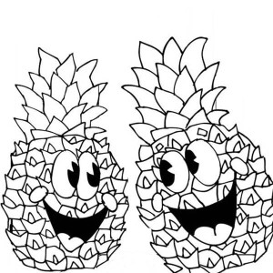 Philippines Queen Sweetest Pineapple Coloring Page