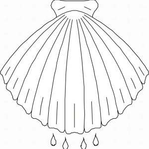 A Pair of Pecten Raveneli Seashell Coloring Page
