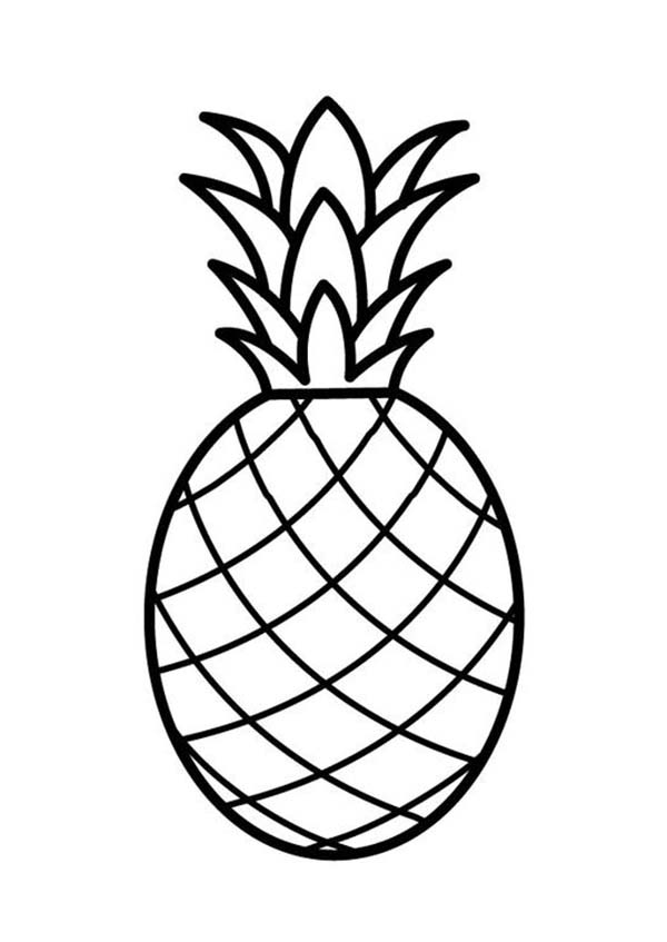 pineapple coloring page - a pale pernambuco pineapple coloring page download