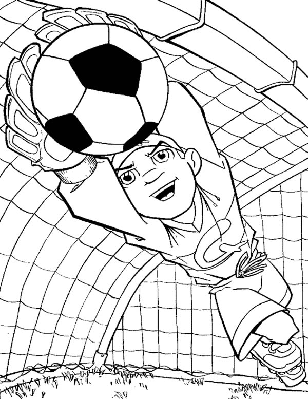 football goalkeeper coloring pages