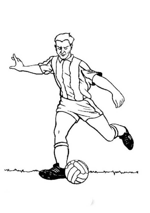 Free Coloring Pages Of Soccer Player