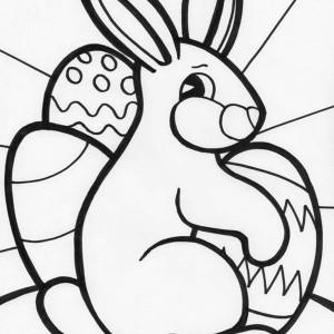 A Sweet Bunny Decoration for Easter Coloring Page