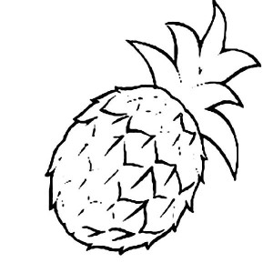 A Sweet Smooth Cayenne Pineapple Coloring Page